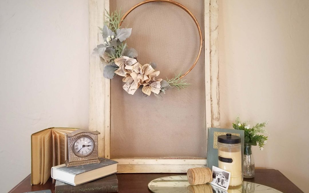 How to Make a Book Page Flower Wreath