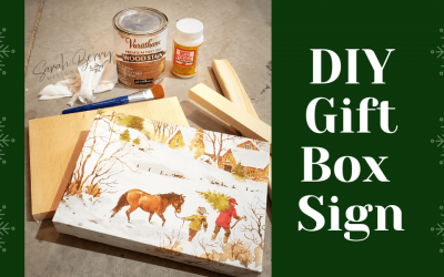 Gift Box Sign DIY